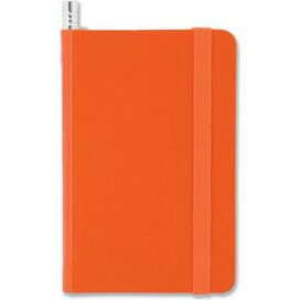 Notitieboek mini en potlood Oranje
