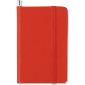 Notitieboek mini en potlood Rood