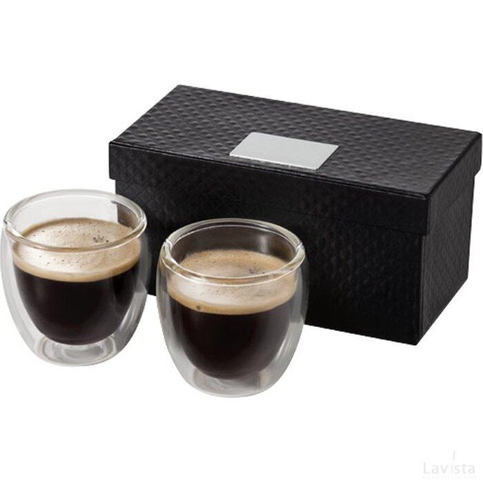 Boda 2 delige espressoset Transparant
