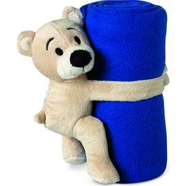 Fleece deken met beer Manta Blauw