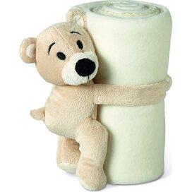 Fleece deken met beer Manta Wit