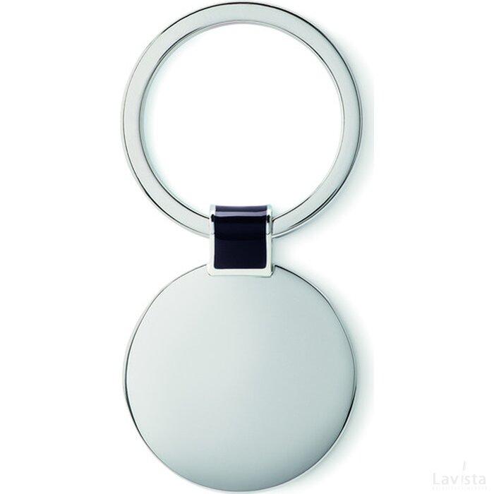 Metalen sleutelhanger Roundy Zwart