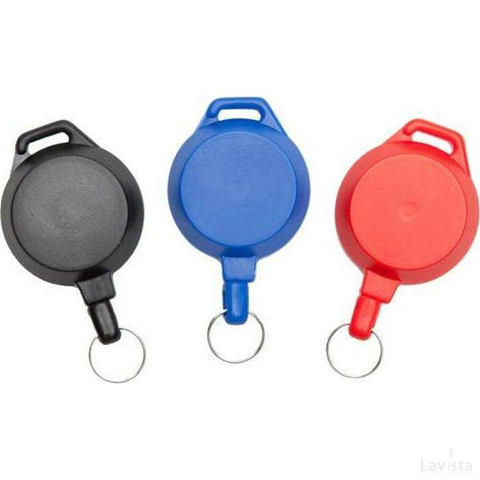 Jojo 2 pashouder kunststof met sleutelring blauw
