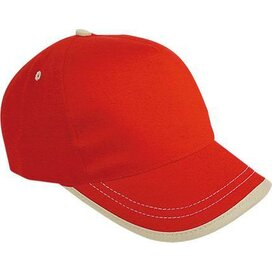 Cap Usa Rood/naturel