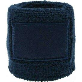 Polsband 6cm Met Label Navy