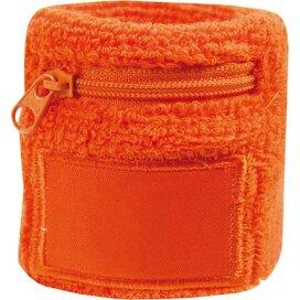 Polsbandje Met Rits 6cm Met Label Oranje