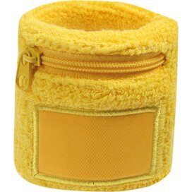 Polsbandje Met Rits 6cm Met Label Geel