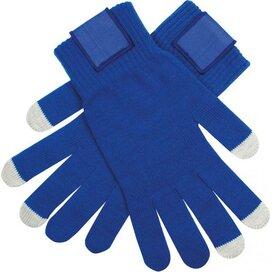 Touchscreen Handschoenen Met Label Kobalt