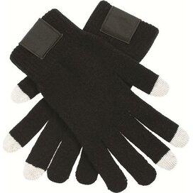 Touchscreen Handschoenen Met Label Black